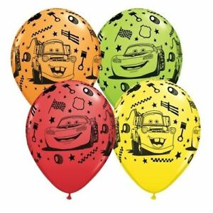 """8pcs Cars Lightning McQueen & Mater Latex Balloons Birthday Party Decoration 12"""""""