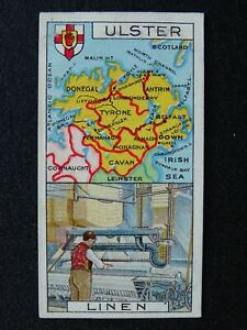 No.23 IRELAND ULSTER Counties and Their Industries (Numbered) by Players 1915