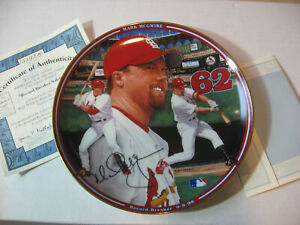 MARK MCGWIRE Record Breaker 9-8-98 PLATE Numbered ST. LOUIS CARDINALS COA