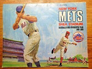 Vintage 1969 New York Mets Official Program and Scorecard