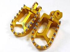 CNC RACING Billet FOOTPEGS Suzuki RMZ250 250 RMZ450 450 2010-2014 GOLD M FP08