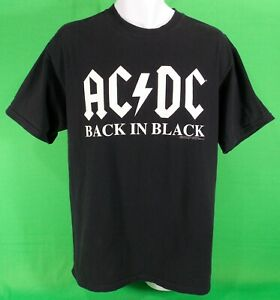 AC DC Back In Black Shirt Large Licensed Original 2003 Anvil Malcolm Young