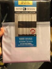 Shower Curtain, Black & White Stripe Polyester, 72 x 84-In.