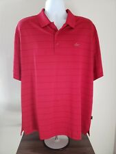 Men's Greg Norman for Tasso Elba Five Iron Play Dry Red Ss Polo Shirt Xl