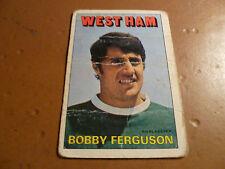 A & A.C. Chicle Fútbol Tarjeta 1972/73 Rojo Naranja atrás Bobby Ferguson West Ham
