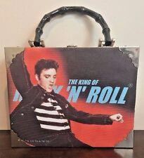 Elvis Cigar Box King of Rock N Roll Purse Case Bag Rhinestones Collectible Rare