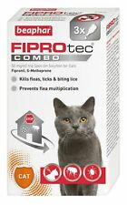 Beaphar Fiprotec Combo Flea Tick Lice Spot On For Cats 3 Treatment Pipette