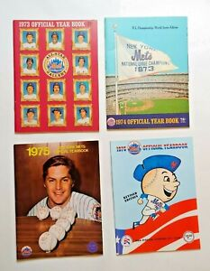 Set of 4 New York Mets Official Year Books: 1973, 1974, 1975, & 1976