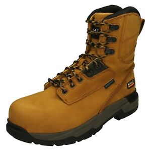 MENS ARIAT LACE UP NON METALLIC COMPOSITE TOE SAFETY WORK BOOTS MASTERGRIP 8''