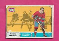 1968-69 OPC # 63 CANADIENS JACQUES LEMAIRE  FAIR  CARD  (INV# C4202)