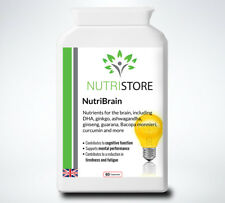 Natural Cognitive Enhancer Brain Supplement Memory and Focus 60 Capsules