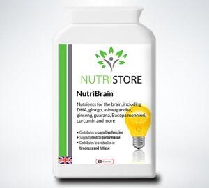 Cognitive Enhancer Brain Supplement Memory and Focus 60 Capsules