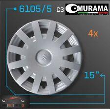4 Original MURAMA 6105/5 Radkappen für 15 Zoll Felgen CITROEN C3 GRAU NEU