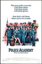 POLICE ACADEMY - 1984 - original 27x41 movie poster - KIM CATTRALL, BUBBA SMITH
