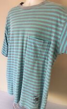 Vtg 80s 90s Gotcha Surf Skate BMX Striped T Shirt Grunge USA Distressed Large