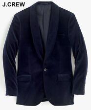 New J.CREW Ludlow velvet blazer 36R navy blue suit jacket coat shawl collar 36 R