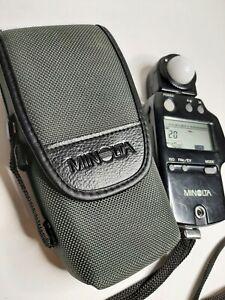 Minolta Auto Meter IV F Flash Light Meter From Japan w/ Case Free Shipping
