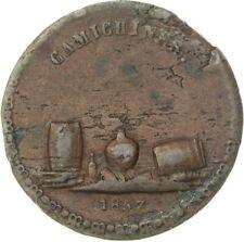 Mexico - 1857, 1/4 Real token, Hacienda Camichines, Lazaro J. Gallardo (*A11*)