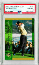 2001 Upper Deck Golf Tiger Woods #124 PSA 8