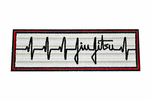 Jiu Jitsu BJJ Gi Patch HEARTBEAT PULSE Jiu Jitsu Gift IRON-ON Stocking Stuffer