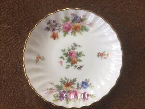 "Vintage Minton ""Marlow"" floral Bone China Trinket Dish 11cm diam Made In England"