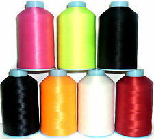 BULKED POLYESTER 80'S OVERLOCKING THREAD, 5000 YARDS, CHOOSE COLOUR