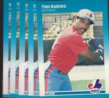 1987 FLEER BASEBALL LOT (5) TIM RAINES #328 EXPOS NMMT/MINT *L2119