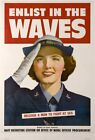 enlist in the waves 1943 patriotic propaganda poster new ideas for the bedroom