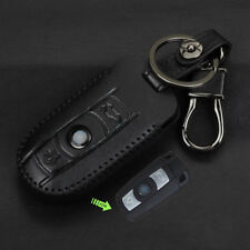 Black Leather Key Fob Case For BMW 3 5 Series X5 X6 M5 Holder Cover