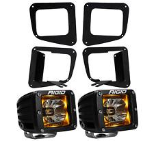 Rigid Radiance LED Fog Light Kit Amber Backlight for 14-17 Toyota Tundra 20204