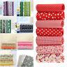 7pcs 25*25cm Cotton Fabric DIY Assorted Squares Pre-Cut Quilt Quarters Bundle