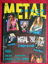 rivista METAL SHOCK 34/1988 Anthrax Strana Officina Crimson Glory Iggy Pop No*cd