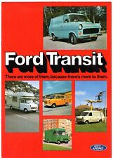 Ford Transit Mk1 1976-77 UK Market Sales Brochure Van Parcel Van Bus