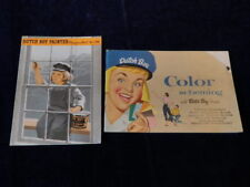 Vtg 1940 & 1955 Dutch Boy Paint Brochure Lot of2 Painter Mag & Color Scheming J6
