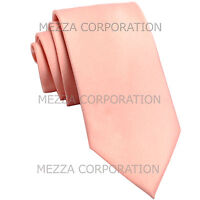 "New Vesuvio Napoli Men's 2.5"" skinny necktie solid polyester Mauve Dusty Pink"