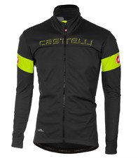 Castelli Cycling Men Transition Jacket DARK GRAY/YELLOW FLUO Large L