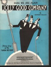Here We Are Again Jolly Good Company 1932 Canada Dry Hour Theme Sheet Music