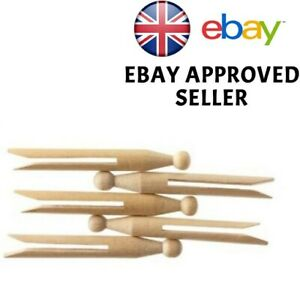 TRADITIONAL HIGH QUALITY NATURAL WOODEN DOLLY PEGS CLOTHES WASHING LINE