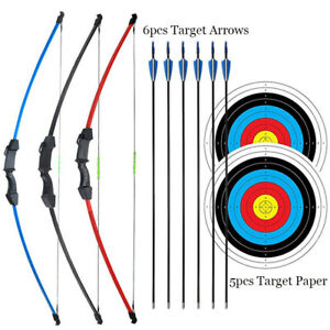 Archery 15lbs Kids Bow & Arrows Takedown Recurve Bow Set Outdoor Hunting Target