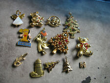 Vintage Group Lot Of 12 Tie Back Lapel Assorted Pins