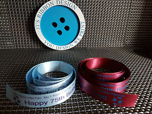 Personalised Ribbon No 1 Aston Villa Cake or Gift Wrapping Any Name or Message