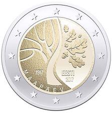 "2 Euro Commemorativo Estonia Estonie Эстония 2017 ""Indipendenza dell'Estonia"""