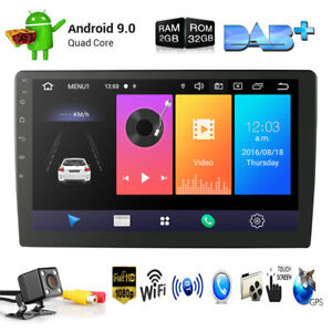 9 Inch Android 9.0 2+32gb 2Din In-Dash Unit Car Stereo Radio Navi GPS No DVD+Cam