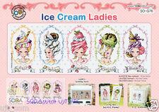 Ice cream Ladies - Cross stitch pattern book. Big Chart. SODAstitch SO-G76