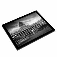 A3 Glass Frame BW - Kazan Cathedral Saint Petersburg Russia  #37125