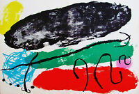 MIRO - ABSTRACT  EXPERIMENT - ORIGINAL LITHOGRAPH - 1960 - FREE SHIP IN US !!
