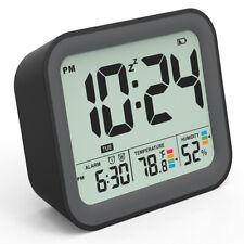 VEEAPE Smart Alarm Clock Ultra Clear Dual Alarm Adjustable Snooze Humidity