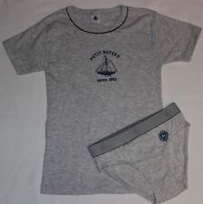 Petit Bateau T-Shirt mit Slips hellgrau 138 / 140 NEU Segelboot