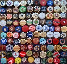 100 Different Aluminum Bottle Caps RUSSIA VODKA COGNAC BRANDY WHISKEY SODA