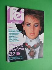 LEI Glamour magazine Febbraio 1982 n.60 laetitia firmin didot